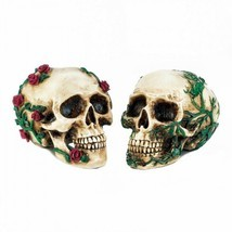 His And Hers Skull Set Polyresin Halloween Decrorations - $498,62 MXN