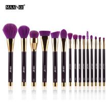 Purple MAANGE 15Pcs Makeup Brush Set Powder Foundation A - $46.00