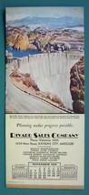 INK BLOTTER AD 1938 - Rivard Sales Co. Kansas City MO & Boulder Dam Colo... - $4.49