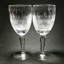 2 (Two) Waterford Colleen Tall Stem Cut Lead Crystal Claret Wine Glasses-Signed - $193.54
