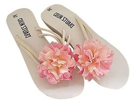 Fashion Summer Item, Light Pink Hibiscus Flip Flop Beach Casual Sandals