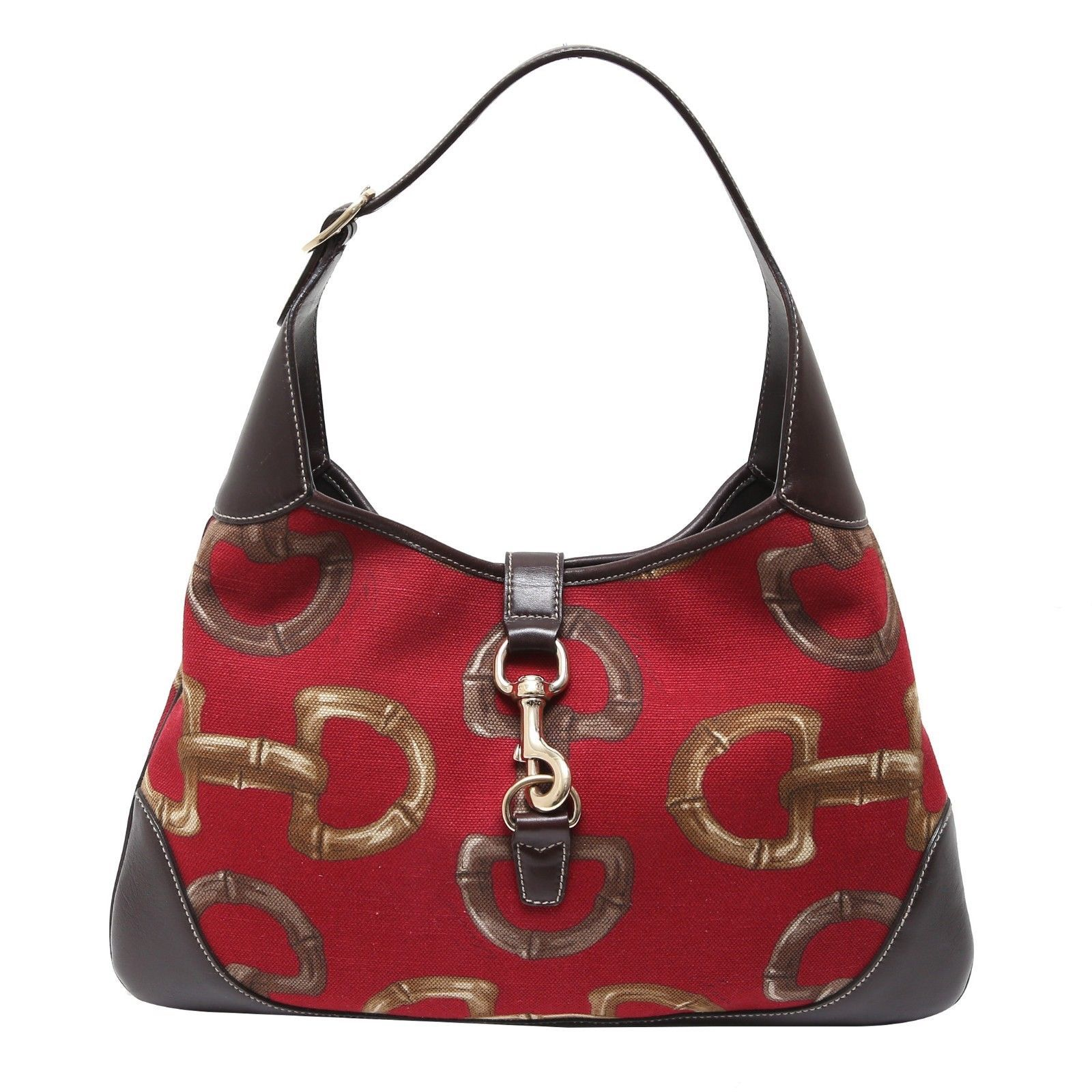 913c1f65af8 Auth Gucci Red Horsebit Bouvier Medium Hobo and 50 similar items