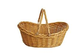 Wald Imports 1002-MD 17 in. Honey Finish Willow Basket - $24.74