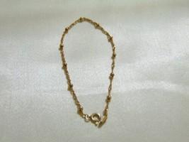 "Giani Bernini 7"" 18k Gold/Sterling Silver Beaded Singapore Bracelet L638 - $23.99"