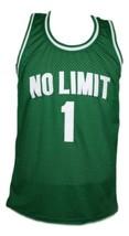 No Limit #1 Basketball Jersey Sewn Green Any Size image 1