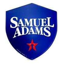 "Samuel Adams Brewery Shield Tin Sign 18"" x 16.5"" Man Cave Bar Decor - $25.00"