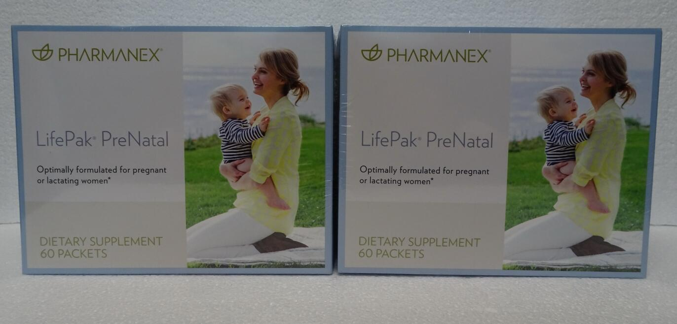 Primary image for Two pack: Nu Skin NuSkin Pharmanex LifePak Prenatal 60 Packets SEALED x2