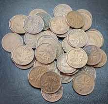 Full Roll of 1940 Canada Small Cents (Penny) 50 Circulated Coins - Flat ... - $6.28
