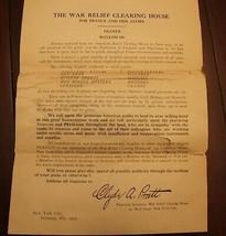 Guerra Rilievo Per Francia E Alleati 3 Pagina Lettera Asking Aiuta Datat... - $472.45