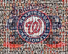 Washington Nationals and Senators Mosaic Print  designed using players t... - $42.00+