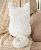Cozy Cat Pillows - White - $12.97