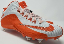 Mens Nike Alpha Pro Football Cleats Orange White 719935-188 Size 14 - $41.07
