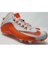Mens Nike Alpha Pro Football Cleats Orange White 719935-188 Size 14 - $43.34