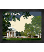 "University of Virginia ""The Lawn Circle"" 13 x 16 Art Deco Framed Print  - $39.95"