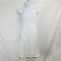 Schiesser Silhouette White Vintage Slip Lace Trim 1960s Size Small  - $34.65