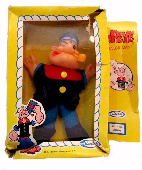1979 Uneeda POPEYE the Sailor Man Doll in Box - $15.95