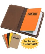 Handcrafted Stitched Leather Journal Notebook Cover with Inside Pocket: ... - $25.16