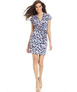 Jessica Simpson Women's size 10  Faux Wrap Dress Geo Print - $53.95