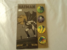 BATMAN BUTTON COLLECTION x 4 (1989) - NEW OLD STOCK - OFFICIAL DC COMICS... - $14.31