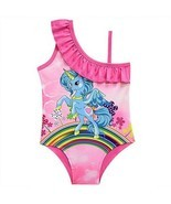 Girl Cartoon Lovely Girl Swimsuit One Piece Swimwear Cute Colorful Unico... - $13.45 CAD
