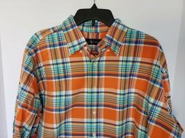 Polo Ralph Lauren Men's Orange Royal Long Sleeve PLAID/CHECKED Shirt Size Lt Nwt - $45.82
