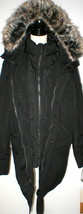 New NWT $400 Mens Coat Michael Kors Black LT L Tall Faux Fur Hood Winter... - $400.00