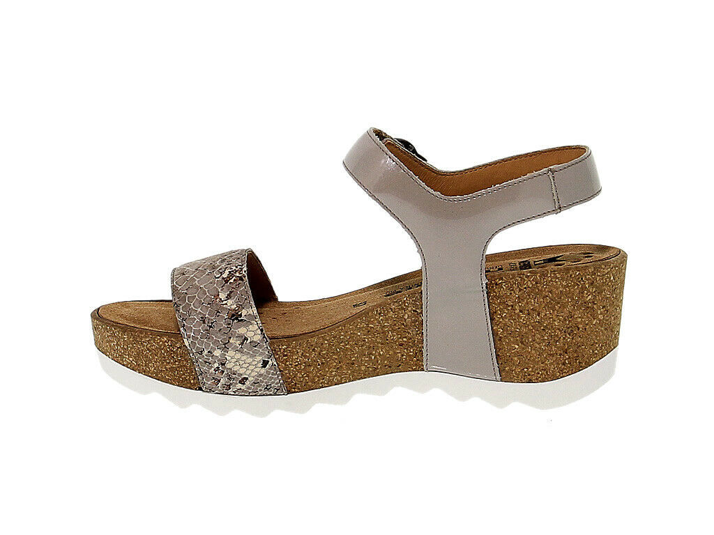 Heeled sandal MEPHISTO XANDRA in taupe leather - Women's Shoes