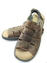 Skechers Sports Sandals Men's Sz 13m Brown Leather Buckled (tu34ep) - $22.99