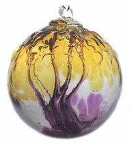 "6"" European Art Glass Spirit Tree Embossed Leaf ""ASSURANCE"" Witch Ball K... - $41.23"