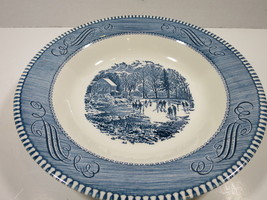 Currier & Ives Rimmed Soup Bowl Royal China Early Winter - $8.59