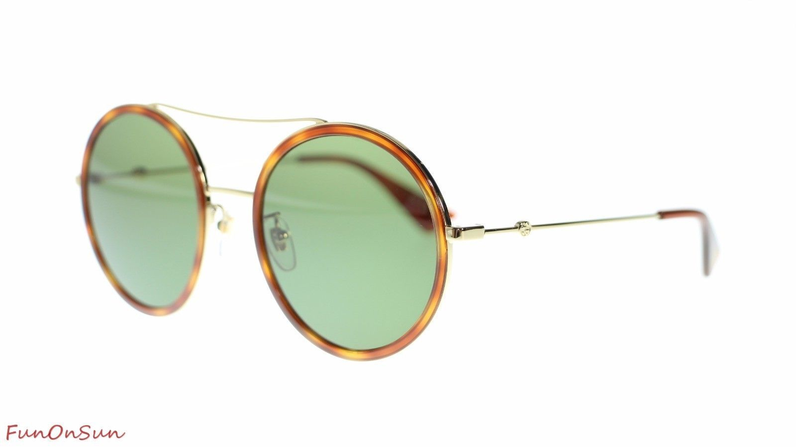 2230b578bf67c S l1600. S l1600. Previous. Gucci Women Round Sunglasses GG0061S 002 Gold Green  Lens 56mm Authentic