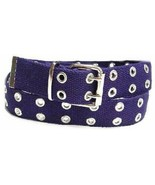 Canvas 2 Hole With Silver Grommet Belt In Navy XS - XL Web Belt Fashion ... - $12.99