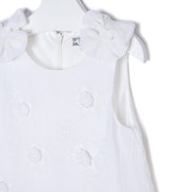 Mayoral Little Girls Ivory Embroidered Bow Shoulder Drop Waist Chiffon Dress image 3