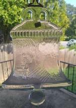 """Kosta Boda Crystal Suncatcher Art Glass Sweden Bell 9"""" Hanging Bell Orig... - $16.99"""