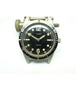 1960'S CATENA TOWNE DIVER 17 JEWELS 600FT ALL STEEL WATCH RUNS MISSING S... - $495.00