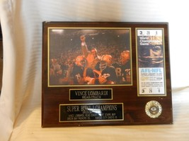 Green Bay Packers Vince Lombardi Super Bowl I Champions NFL Photo Plaque on Wood - $111.37