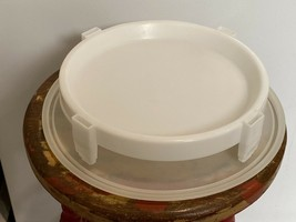 Vintage 3 Piece Tupperware Sheer Large Canister with Lid 256-1 With Pie Stacker - $14.95