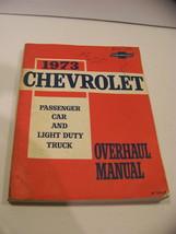 1973 Chevrolet Passenger Car Light Duty Truck Overhaul Manual Camaro Corvette - $35.99