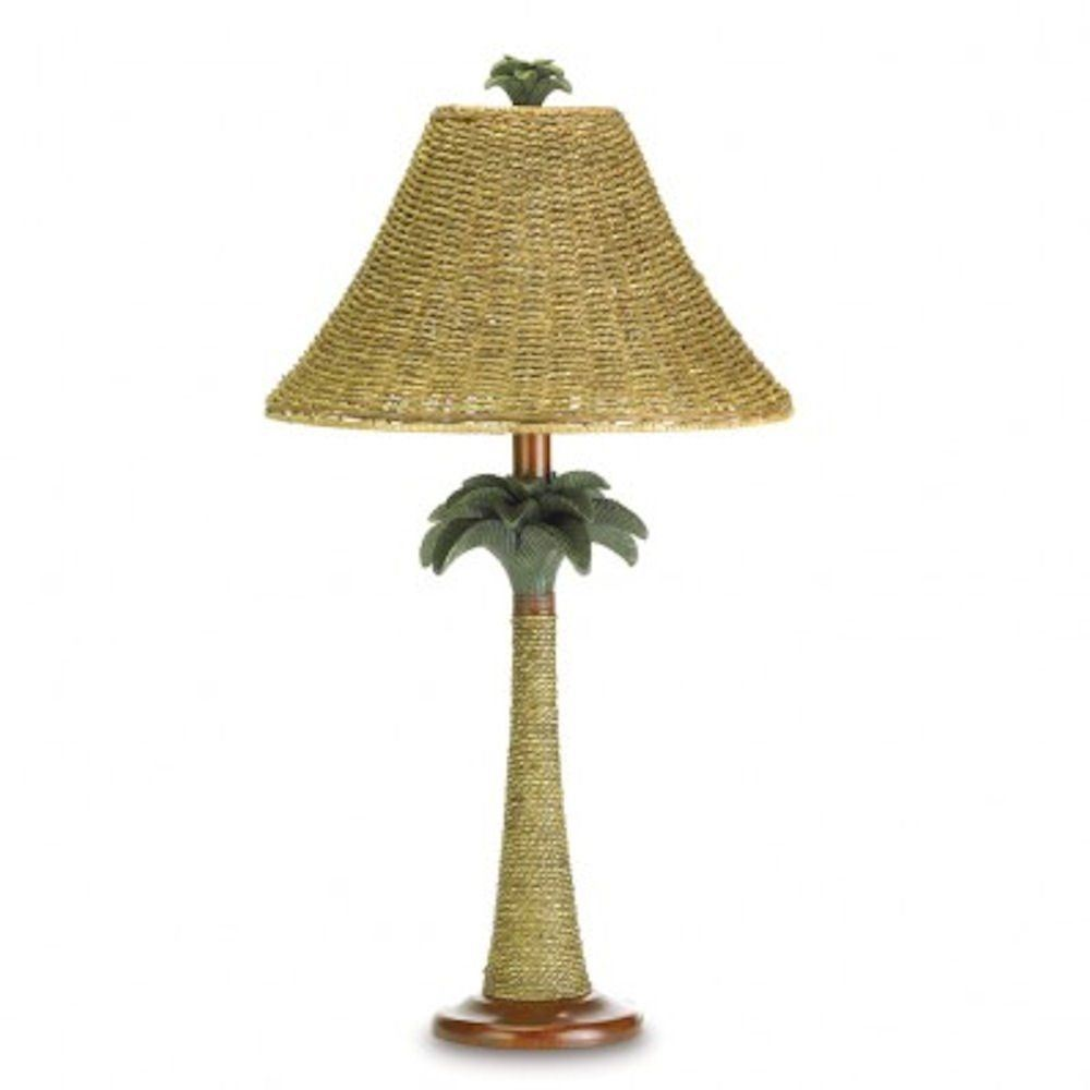 PALM TREE TABLE LAMP Rattan Tropical Style