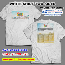 VANS WARPED 2018 TOUR DATE V2 WHITE T-SHIRT S-3XL SIZES AVAILABLE NEW - $13.99+