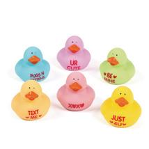 "12 Valentine's 2"" Rubber Ducks Ducky Duckies Gift Party Favor Loot Treat - $9.49"