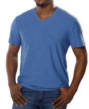 Calvin Klein Men's Textured V-Neck Short Sleeve T-shirt Top Blue  Sz L - $22.56