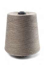 100% Linen lace yarn natural unbleached, 400g cone, 4-ply flax yarn gray... - $19.99