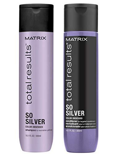Matrix Total Results So Silver Color Obsessed Shampoo and Conditioner for Blonde image 1