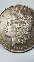1878 7TF Rev 79 Morgan Dollar XF EF Extremely Fine 90% Silver $1 US Coin image 2