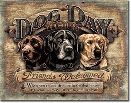 Dog Day Acres Inspirational Quotes Cabin Welcome Wall Art Decor Metal Tin Sign - - $15.99