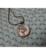 Reading Robot Cabochon Necklace - $4.50