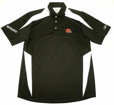 X-Small Cleveland Browns Polo Men's Afterburn NFL Football Reebok PlayDry Shirt