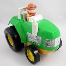 Light & Sound Green Farm Tractor Educational Toddler Toy Battery Operate... - $6.88