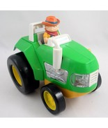 Light & Sound Green Farm Tractor Educational Toddler Toy Battery Operate... - $5.16